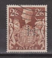 Engeland United Kingdom, Great Britain, Angleterre, Bretagne, King George VI, SG 476, Y&T 233 Used PERFIN H - 1902-1951 (Koningen)