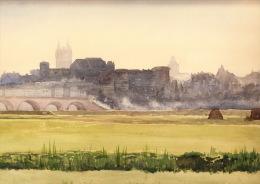 ANGERS En 1889 : Aquarelle Originale Sur Papier, D'époque XIX° Siècle - Watercolours