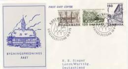 DENMARK 1975 EUROPA SYMPATHY ISSUE  FDC - European Ideas