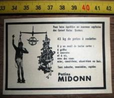 PUB PUBLICITE PATINS A ROULETTES MIDONN - Vieux Papiers