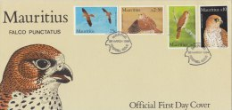 MAURITIUS 1984 FDC Kestrel - Arends & Roofvogels