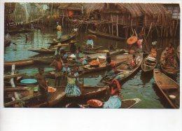 REF 159 : CPSM DAHOMEY Village Lacustre De Ganvié Timbre Du Tchad - Dahomey