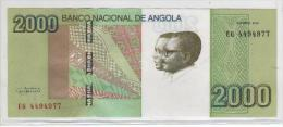 Nota Angola 2000 Kwanzas 2012 AUnc Acet Paypal Pode Ser Com Outro Nºa Nota - Angola