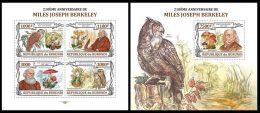 BURUNDI 2013 - M.J. Berkeley, Mushrooms M/S + S/S. Official Issue - Pilze