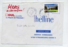 Lettre Flamme Cachet Brest Centre Courrier - Marcophilie (Lettres)