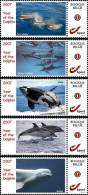 2007 Year Of The Dolphin 5x - Sellos Privados