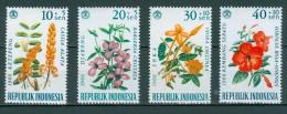 INDONESIEN - Mi-Nr. 503 - 506 - Tag Der Sozialen Fürsorge: Blumen Postfrisch - Pflanzen Und Botanik