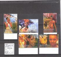 Botswana :Thème Miss Monde  N°824A/E ** Cote :20,00 €  Superbes Et BDF. - Botswana (1966-...)