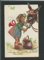 Germaine Bouret, Mange Des Carottes, Ajoutis : Ida, Ceinture, Chapeau Et Oreilles âne, Une Oreille Pliure, Tient. - Bouret, Germaine