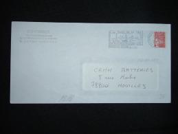 LETTRE ENTIER MARIANNE DE LUQUET TVP ROUGE OBL.MEC. VARIETE 6-12-2001 FRANQUEVILLE ST PIERRE (76 SEINE-MARITIME) - Curiosità: 2000-09 Storia Postale