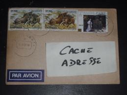 LETTRE CONGO ZAIRE AVEC YT 1151 X 2 ET 1282 - PHACOCHERE - PAPE JEAN PAUL II - - Zaïre