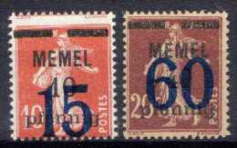 Memel (Klaipeda) 1921 Mi 34-35 ** [221213III] @ - Memelgebiet