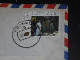 LETTRE CONGO ZAIRE AVEC YT 1282 - PAPE JEAN PAUL II - - Zaïre