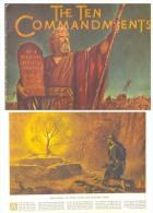 JUDAICA OLD TESTAMENT-THE TEN COMMANDMENTS Year 1956,32 Pages, 31 X 23 Cm. Atractive-rare - Judaisme