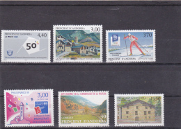 V] 6 Timbres ** Differents Different Stamps ** Andorre Andorra ( ATTENTION: Voir Timbre à 15,50 F ) - Stamps