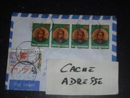 LETTRE CONGO ZAIRE AVEC YT 1333 X 4 ET 1252 - PRESIDENT MOBUTU - REVOLUTION FRANCAISE - - Zaïre