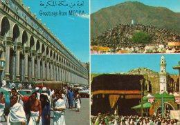 CPSM - ARABIE SAOUDITE - GREETINGS FROM MECCA - Multivues - Coul - Ann 70 ! - - Arabie Saoudite
