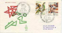ITALIA - FDC VENETIA  1971 -  GIOCHI DELLA GIOVENTU´ - SPORT - ANNULLO SPECIALE - VIAGGIATA PER SAVONA - 6. 1946-.. Repubblica