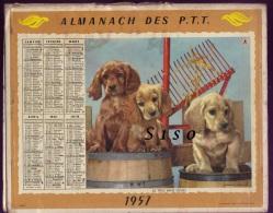 LOT de 45 calendriers PTT -- de 1957 �  2013 �tats divers. 90 PHOTOS Chasse P�che animaux chevaux montagne tacot fleurs.