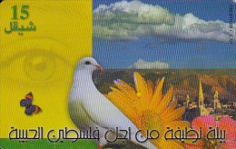 Palestine, PAL-12Ba, Keep Palestine Clean, Dove, Butterfly, 2 Scans.  05/00  EXP : 05/02 - Palestina