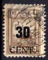 Memel (Klaipeda) 1923 Mi 194, Gestempelt [221213III] @ - Memelgebiet