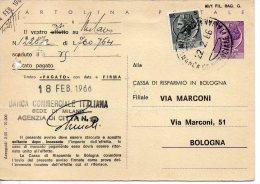 1966 Italia Italy Italie Intero Sir £25+5 REPIQUAGE Privato Fori Archivio Stationery Card Carte - 6. 1946-.. Repubblica