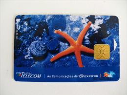 Phonecard/ Telécarte Telecom Card Uma Estrela Na Expo 98 Lisboa 100 Impulsos Portugal Tirage 40.100 Ex. - Portugal