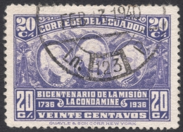 Ecuador, 20 C., 1936, Scott # 350, Used - Ecuador