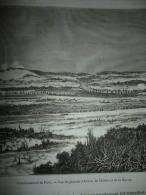 Investissement De Paris , Vue Du Plateau D'Avron , De Chelles Et De La Marne , Gravure De Farlet , Circa 1887 - Historische Dokumente