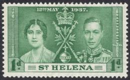 St. Helena, 1 P. 1937, Scott # 115, MH. - Saint Helena Island