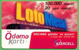 Azerbaijan GSM Prepaid Card - Azercell 20 Manat /Used,but Like UNC / Loto - Azerbaïjan