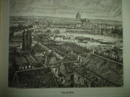 Vue De Dole , Gravure De Chevallier , Circa 1887 - Historische Dokumente
