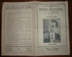 63 Clermont-Ferrand Programme Opéra Municipal 1944-45 M. Dailly M. Gabillet Valses De Vienne - Programmes
