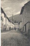 VALLEE DU QUEYRAS-74-VILLE-VIEILLE--ENTREEDU VILLAGE-ANIMEE+PERS A CHEVAL--DU 20 AOUT 1929-- - France