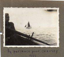 PHOTO  ORIGINALE -    En Partance Pour CHAUSEY  ( Manche )  1933 - Lieux
