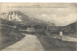 VALLEE DUQUEYRAS--FONTGILLARDE-- 397-VUE PRISE DE LA ROUTE DE MOLINES--ECRITE AU VERSO-- - France
