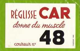 BUVARD : Reglisse CAR  Donne Du Muscle Courreur N°48 - Cake & Candy