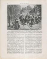 Historia De España Lamina 176: Los Habitantes De Flandes Huyen Del Duque De Alba (1568) - Otras Colecciones