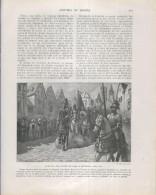 Historia De España Lamina 184: Llegada Del Duque De Alba A Bruselas (1568) - Otras Colecciones