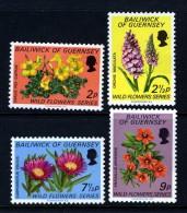 GUERNSEY - 1972 WILD FLOWERS (4V) FINE MNH ** - Guernsey
