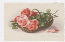 ILLUSTRATEUR KLEIN CATHARINA - BOUQUET DE ROSES DANS UN PANIER    / 1691 - Klein, Catharina