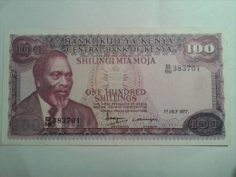 100 SHILLINGS 1er JULY 1977 - Kenya