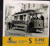 Allem. Fed.  Citypost Sachsen  Triebwagen Typ MAN 1905 **MNH - Strassenbahnen