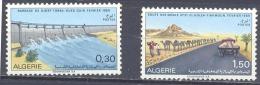 Algérie YT N°488/489 Barrage De Djorf Torba Et Route Nationale 51 Neuf ** - Argelia (1962-...)