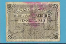 ALDEGALEGA - CÉDULA De  50 REIS - 01.08.1891 - PORTUGAL - EMERGENCY PAPER MONEY - NOTGELD - Portugal