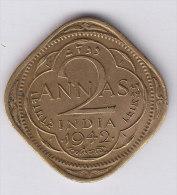@Y@    BRITISH India   2  Annas 1942   (2583) - India