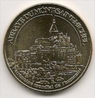 Médaille Abbaye Du Mont-Saint-Michel  2011 -  Patrimoine Mondial De L´Humanité-  Monnaie De Paris - Monnaie De Paris