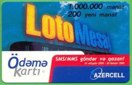 Azerbaijan GSM Prepaid Card - Azercell 200 Manat /Used,but Like UNC / Very Rare, Loto - Azerbaïjan