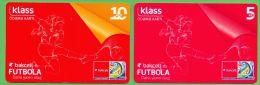 Azerbaijan GSM Prepaid Cards - Bakcell 5 10 Manat /Used,but Like UNC / Football Sport Rare - Azerbaïjan