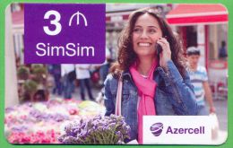 Azerbaijan GSM Prepaid Cards - Azercell 3 Manat /Used,but Like UNC / - Azerbaïjan